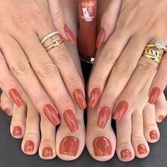 1 , 2 or 3 ? Tag your friends . Pretty Toe Nails, Cute Toe Nails, Red Gel Nails, Matte Nails, Red Nail Designs, Feet Nails, Best Acrylic Nails, Nagel Gel, Perfect Nails