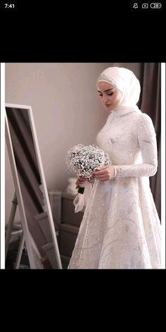 Muslimah Wedding Dress, Muslim Wedding Dresses, Muslim Brides, Bridal Dresses, Bridesmaid Dresses, Aso Ebi Lace Styles, Couple Wedding Dress, Hijab Dress Party, Bridal Hijab