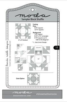 Moda Sampler Block Shuffle - Block # 11