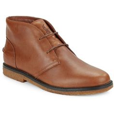 Polo Ralph Lauren Marlow Leather Chukkas ($150) ❤ liked on Polyvore featuring men's fashion, men's shoes, men's boots, tan, mens tan leather shoes, mens woven leather slip-on shoes, mens slip on boots, men's pull on boots and mens chukka boots