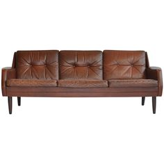 Danish Leather Sofa | See more antique and modern Sofas at http://www.1stdibs.com/furniture/seating/sofas
