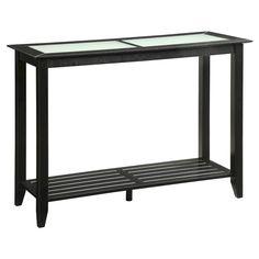 Carmel Console Table Black - Convenience Concepts