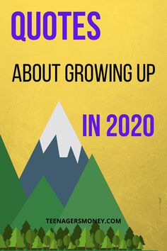 Growing up can be hard, it's even harder now that 2020 has been such a gong show. You've got to check out the top quotes about growing up in 2020. #2020 #quotes #quotesaboutlife #lifequotes #growingup Top Quotes, Best Quotes, Life Quotes, Growing Up Quotes, Great Life, Simple Life Hacks, Business Quotes, About Me Blog, How To Apply