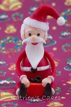 Father Christmas Topper - Tutorial - Cake Central