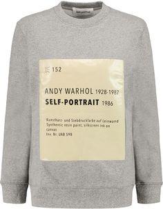 5b4f9a95e47b Self-Portrait Signature printed cotton-blend sweatshirt on ShopStyle.  Designer Clothes Sale