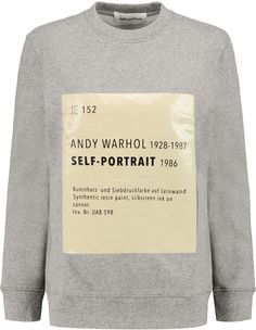 Self-Portrait Signature printed cotton-blend sweatshirt on ShopStyle.