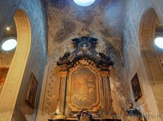 Detail of the interior of the church of San Pietro Martire in Vigevano (Pavia)