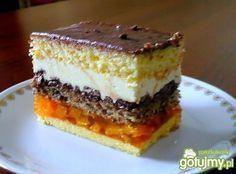 Ciasto z brzoskwiniami Polish Desserts, Polish Recipes, Cookie Desserts, No Bake Desserts, Pastry Recipes, Baking Recipes, Cake Recipes, Dessert Recipes, Delicious Deserts
