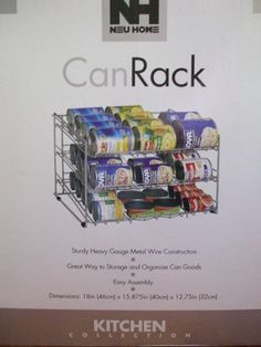 Amazon.com - Organize It All Can Rack (1866W) - Cabinet Organizers