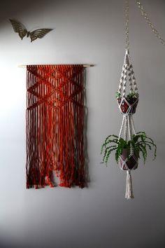 Macrame wall hanging & plant hanger, dreamy boho handmade decor by Bermuda Dream