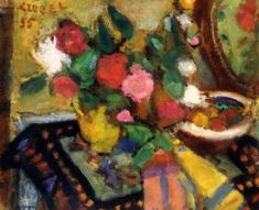 Czóbel, Béla Still life, 1955 Still Life, Floral, Inspiration, Paintings, Artists, Flowers, Fall Living Room, Exhibitions, Big Cats