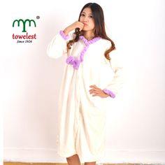 Warm Girl Women Robe Soft Fleece Cute Sleepwear White Intimates Cloth Free  Ship  MMY c9301ad0c