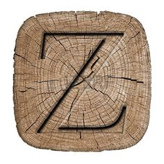 Wooden alphabet block, letter Z
