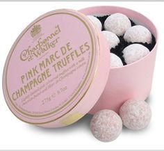 Engagement picnic chocolates...my favourite marc de champagne truffles!