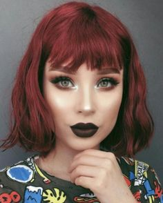 Stylish Upgrade Ideas for Your Short Red Hair - Kurze Frisuren - Short Red Hair, Girl Short Hair, Short Hair Cuts, Hair Color Auburn, Auburn Hair, Ruby Red Hair, Curly Hair Styles, Natural Hair Styles, Beautiful Red Hair