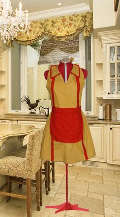 Two Broke Girls Inspired Yellow Womens Sexy Fifties Retro Waitress Hostess Halloween Costume Apron