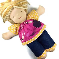 Raglan, Waldorf Dolls, Girl Dolls, American Girl, Doll Clothes, Facebook, Blouse, Jeans, Handmade
