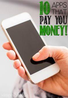 Put your smart phone to work! Here are 10 Apps That Pay You Money to use them. You can a couple hundred dollars per year! Make Money Money Making Ideas Ways To Save Money, Money Tips, Money Saving Tips, How To Make Money, Best Money Making Apps, Make Money From Home, Make Money Online, Party Deco, Apps That Pay You