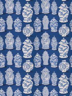 Fresh Blue Chinoiserie Fabric