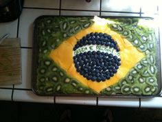 Brazilian Flag Fruit Pizza