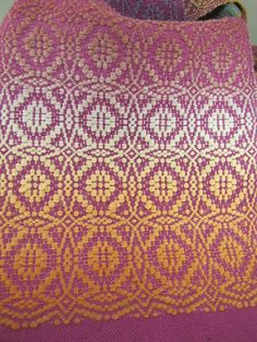 Maltese Cross Overshot Woven Scarf Weaving Draft by DebbiRYarn