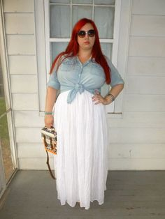 BBW sexy curvy girl thick chubby plump Plus Size fashion model, looking hella fire w/ that red hair tho! Curvy Girl Fashion, Plus Size Fashion, Fashion Models, Womens Fashion, Nail Fashion, Plus Size Maxi Dresses, Plus Size Outfits, Plus Zise, Maxi Skirt Outfits