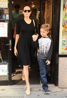 Big day out:Saturday was all about Angelina Jolie's youngest son, seven-year-old Knox, as...