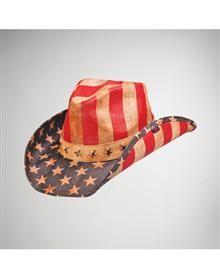 American Justice Natural Flag Cowboy Hat  www.spencers.com