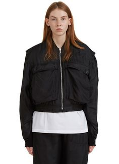 Women's Jackets - Clothing | Order Now at LN-CC - Silk Padded Bomber Jacket