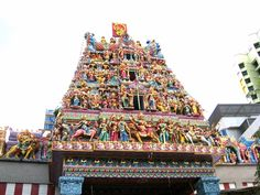 Little India, temple, Singapore by Sara Spencer