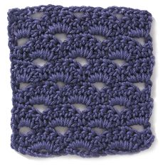 Crochet Stitch: Fanfare. Pillow made out of this! (Lots of other cool stitches on this site too)