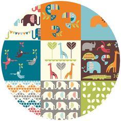 Dan Stiles for Birch Fabrics Organic, Safari Soiree