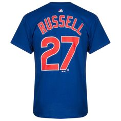 Chicago Cubs Men's Addison Russell Player Tee by Majestic #Chicago #Cubs #ChicagoCubs #AddisonRussell