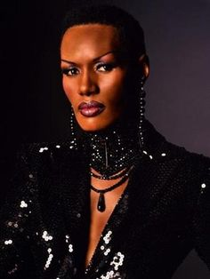 Grace Jones is a one woman wonder and really lives in two dimensions enchanting all that come in contact with her vivacious spirit.