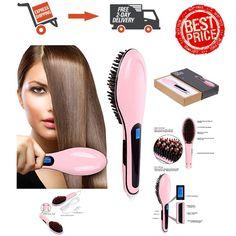 Bestrice Hair Straightener Digital Anti Static Ceramic Anti-Scald  Pink NEW #Bestrice