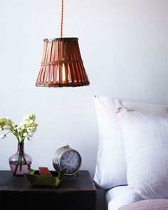 DIY Lamp from an Old Fruit Basket - via Sweet Paul