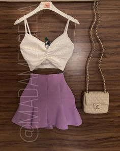 Check link in bio for shopping Casual Skirt Outfits, Crop Top Outfits, Modern Outfits, Chic Outfits, Pretty Outfits, Summer Outfits, Girl Outfits, Fashion Outfits, Womens Fashion