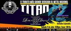 """Cresta Metálica Producciones » Frank Garden Bar presenta: """"TITAN: Tributo Al Metal Nacional"""" (Caracas) // 4 Julio 2015"""