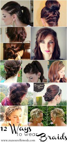 12 Ways to wear a braid
