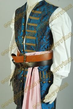 Pirates of The Caribbean 4 Jack Sparrow Vest Only Cosplay Costume #Affiliate