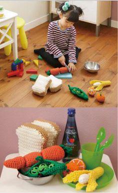 Crochet Amigurumi Free Pattern fruits and vegatables