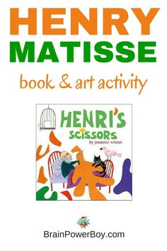 Make large cut outs with this interesting and fun Henry Matisse art activity that pairs nicely with the book Henry's Scissors.