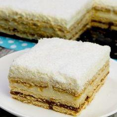 "Tort ""Raffaello"" fara coacere – un deliciu de zile mari No Cook Desserts, Coco, Vanilla Cake, Food And Drink, Sweets, Cookies, Healthy, Mai, Whimsical"