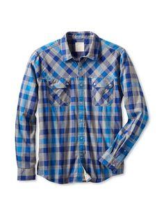 60% OFF Life After Denim Men\'s Cypress Point Shirt (Royal Blue/French Blue)