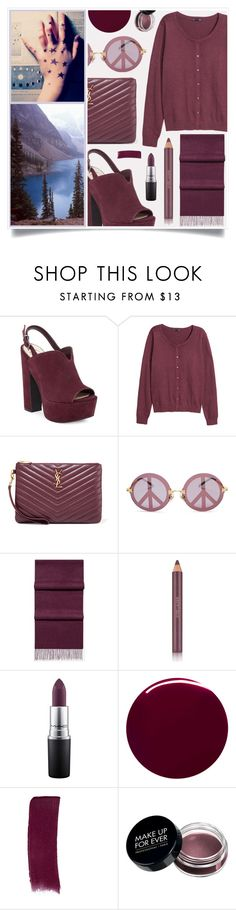 """I Want To Wander"" by racanoki ❤ liked on Polyvore featuring Jessica Simpson, H&M, Yves Saint Laurent, Wildfox, Estée Lauder, MAC Cosmetics, Burberry, Gucci and RaCaNoKi"
