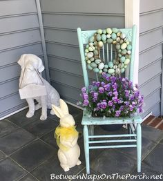 A Million Daffodils, A Porch Decorated for Spring & A Whimsical Spring-Easter Tree