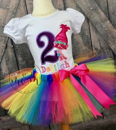Troll Birthday Shirt  Trolls Birthday Outfit  First Birthday