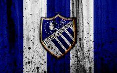 Download wallpapers FC Atletico Veraguense, 4k, grunge, Liga Panamena, logo, football club, Panama, Atletico Veraguense, soccer, LPF, stone texture, Atletico Veraguense FC
