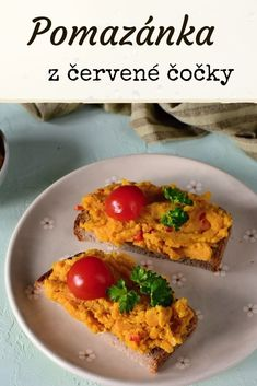 Zdravá pomazánka z červené čočky, veganská. Luštěninová pomazánka, recept z červené čočky. #vegan #cervenacocka #zdravapomazanka Diet Recipes, Healthy Recipes, Breakfast Snacks, What To Cook, Bon Appetit, Food And Drink, Veggies, Low Carb, Smoothie