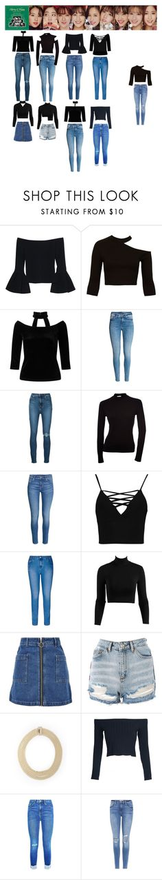 """""""TWICE - HEART SHAKER"""" by lily25457 on Polyvore featuring beauty, Alexis, Sans Souci, Miss Selfridge, Nobody Denim, H&M, Boohoo, City Chic, Topshop and Rosantica"""